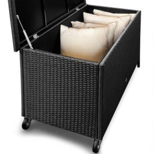 Polyrattan Auflagenbox für Kissen, Bezüge