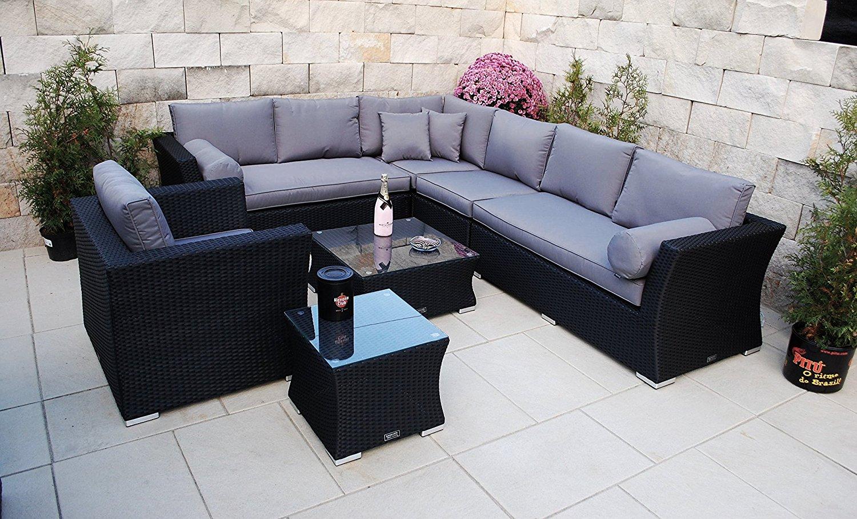 Rattan Gartenmoebel Set Lounge